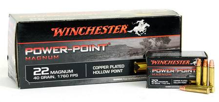 22wmr winchester power point magnum 40 grain